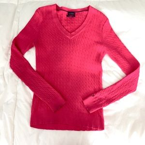 Tommy Hilfiger Pink Prima Cotton Sweater